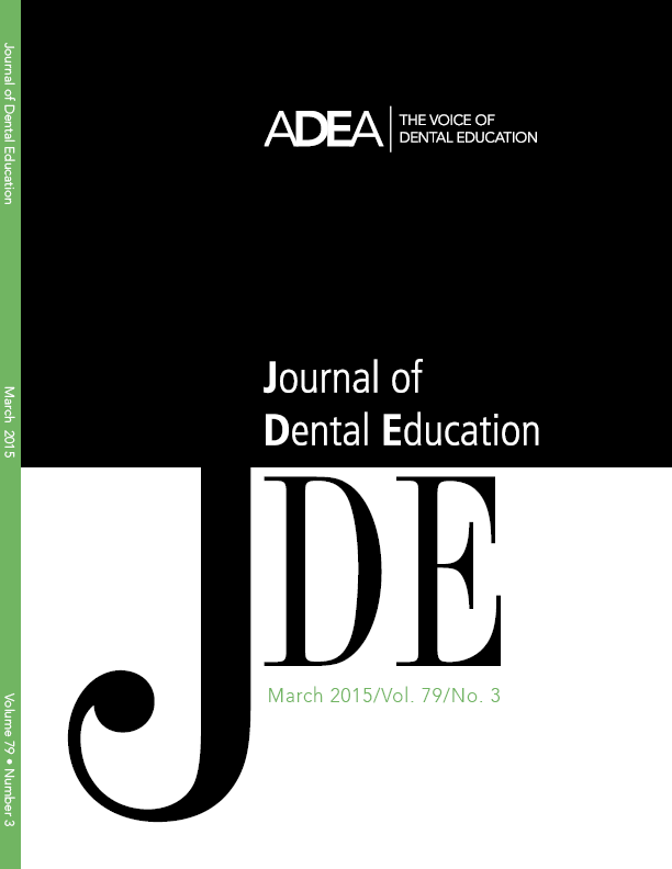 Preview the March 2015 Issue of the Journal of Dental Education
