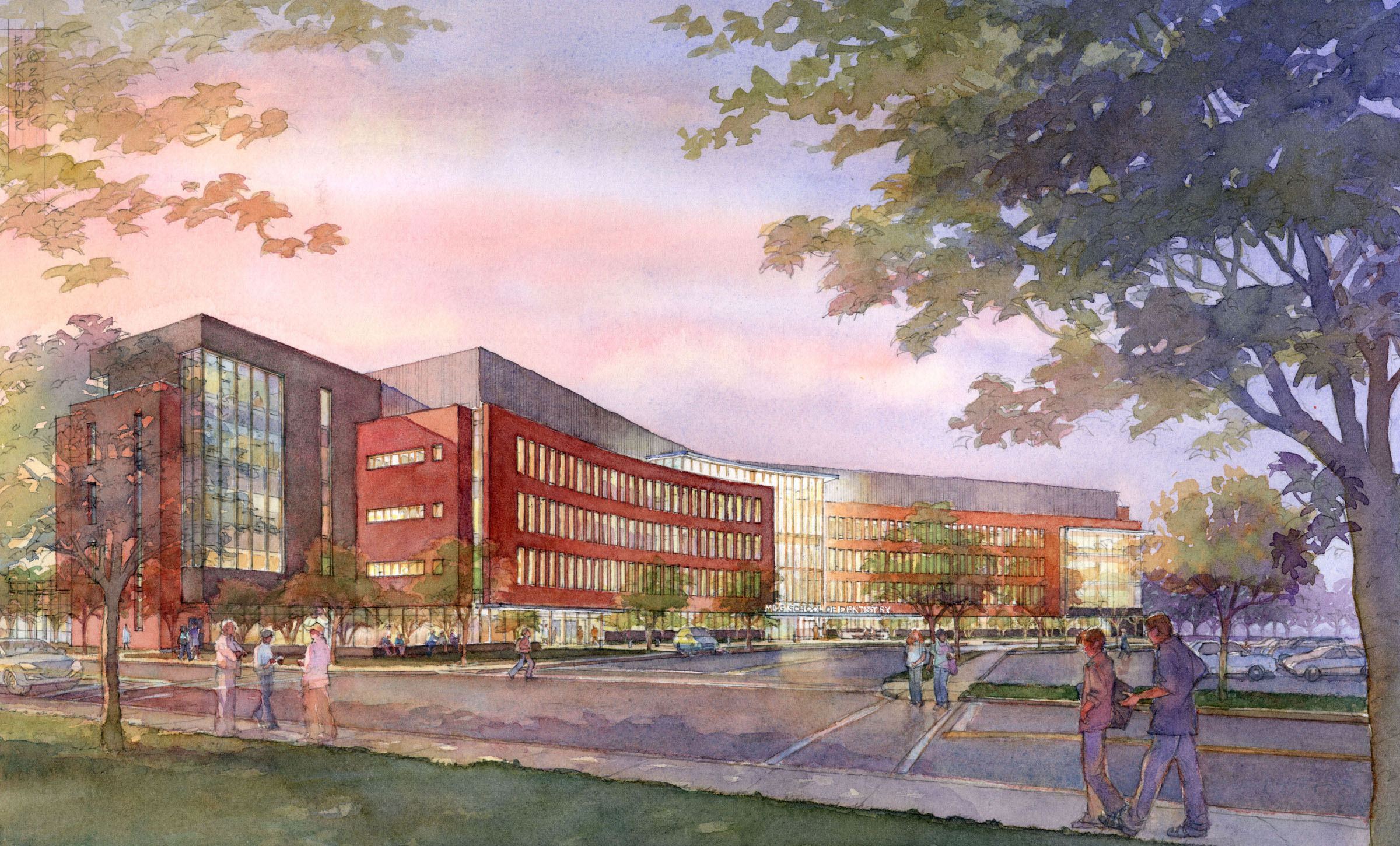Artist's rendering of the new MCG School of Dentistry