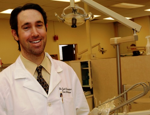 Dr. Joel M. Laudenbach heads the year-old predoctoral hospital dentistry program that exposes students to dentistry's role in hospitals and allows the hospital to find potential candidates for the Illinois Mason General Practice Residency (GPR) program. Photo courtesy UIC College of Dentistry