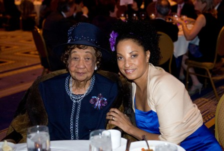 Dr. Dorothy I. Height and 2010 Gies Award host Rene Sylar