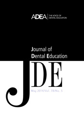 Preview the May 2014 Issue of the Journal of Dental Education