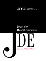 Preview the September 2014 Issue of the Journal of Dental Education