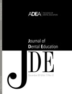 Preview the December 2013 Issue of the Journal of Dental Education