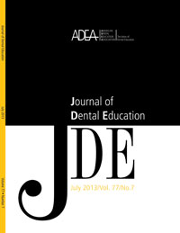 Preview the July 2013 Issue of the Journal of Dental Education