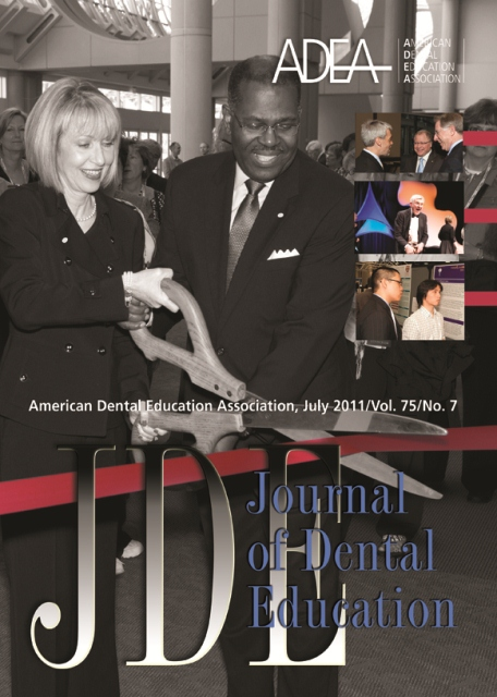 Journal of Dental Education, July 2011/vol. 75/no. 7