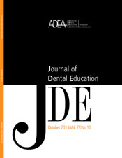Preview the October 2013 Issue of the Journal of Dental Education