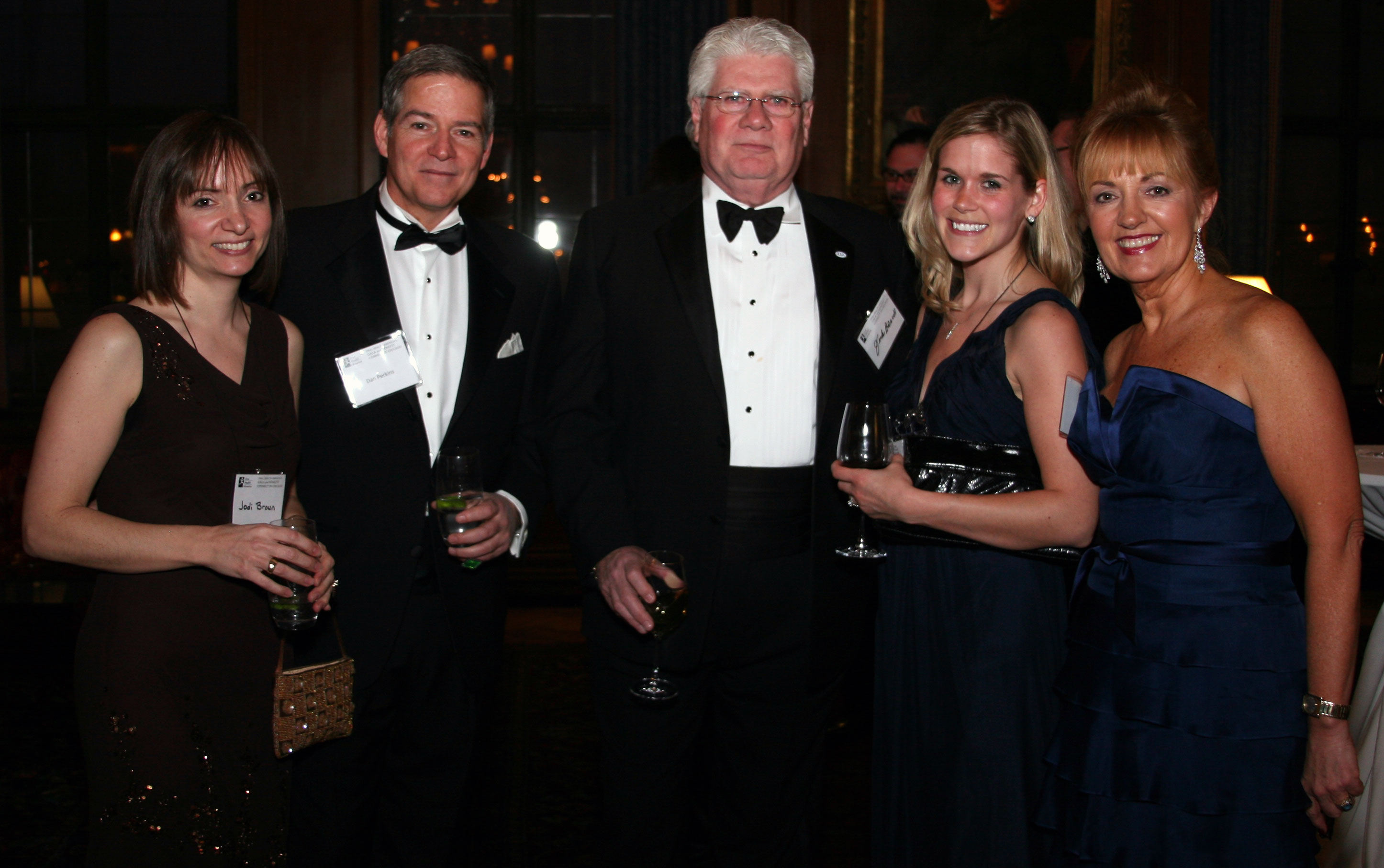 Gala attendees (left to right): Jodi Brown of Walgreens Co., Dan Perkins of ADEA corporate member AEGIS Communications, ADEA Associate Executive Director and Director of the Center for Public Policy and Advocacy Jack Bresch, Jen Hull of Trident, and Beth Truett of Oral Health America.