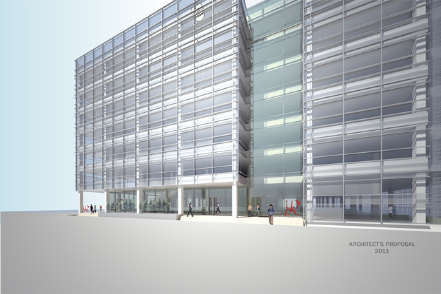 Architect's vision of the new Arthur A. Dugoni School of Dentistry building in the San Francisco, California's South of Market district. (Photo courtesy University of the Pacific)