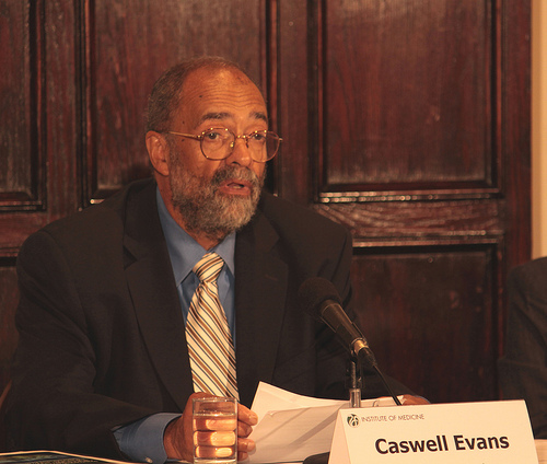 Caswell A. Evans Jr., D.D.S., M.P.H., Associate Dean for Prevention and Public Health Sciences, College of Dentistry; Photo courtesy the National Academy of Sciences