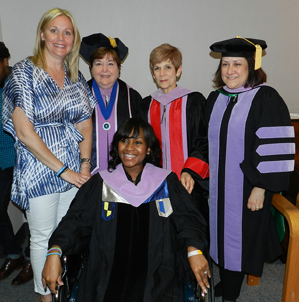 Dr. Kate Ciarrocca, Dr. Carol Lefebvre, Dr. Carole Hanes, Dr. Lily Garcia and Dr. Jackie Green
