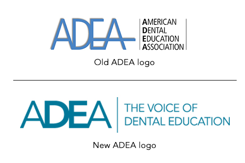 ADEA old and new logo
