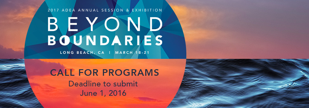 2017 ADEA Annual Session & Exhibition Call for Programs