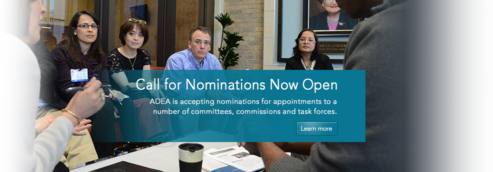 2015 Call for Nominations for Appointments