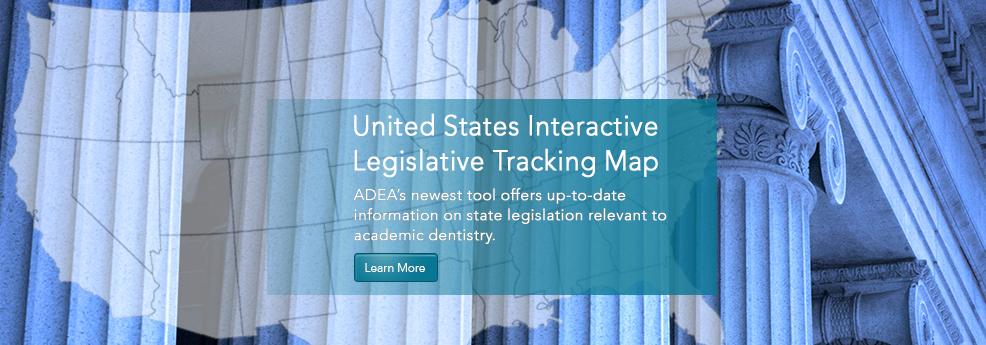 ADEA United States Interactive Legislative Tracking Map