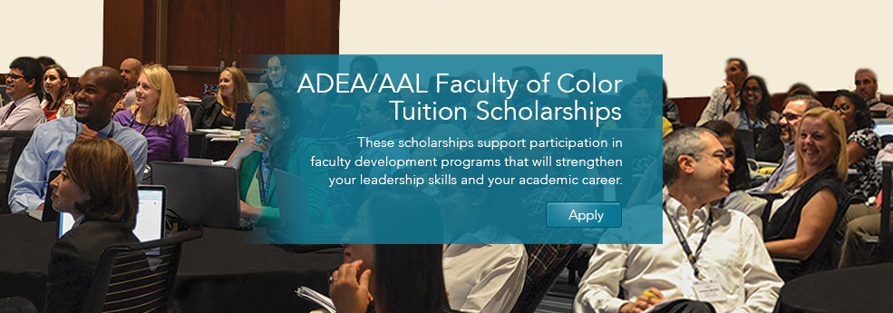 2016 ADEA/AAL Faculty of Color Tuition Scholarships