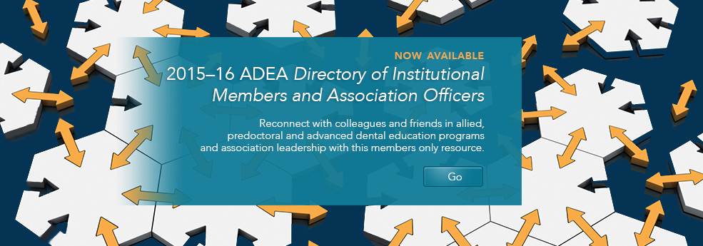 2015–16 ADEA Directory of Institutional Members and Association Officers