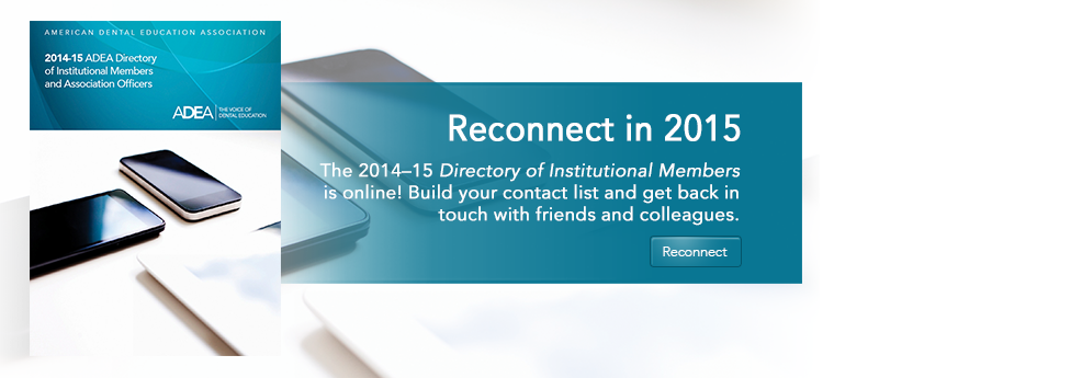 2014–15 ADEA Directory of Institutional Members and Association Officers