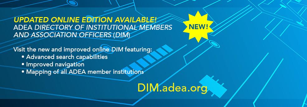 ADEA Directory of Institutional Members and Association Officers