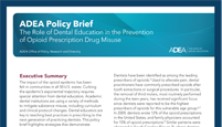 ADEA Policy Brief: Opioids