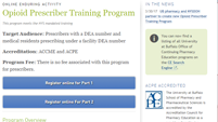 UB Prescriber Training Program