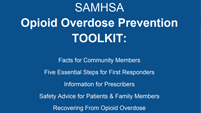 SAMHSA Overdose Prevention Toolkit