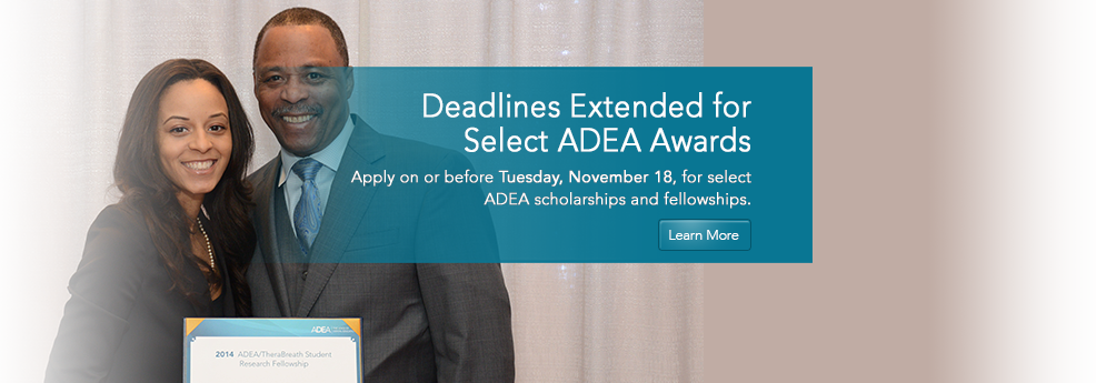 ADEA Scholarships, Awards and Fellowships