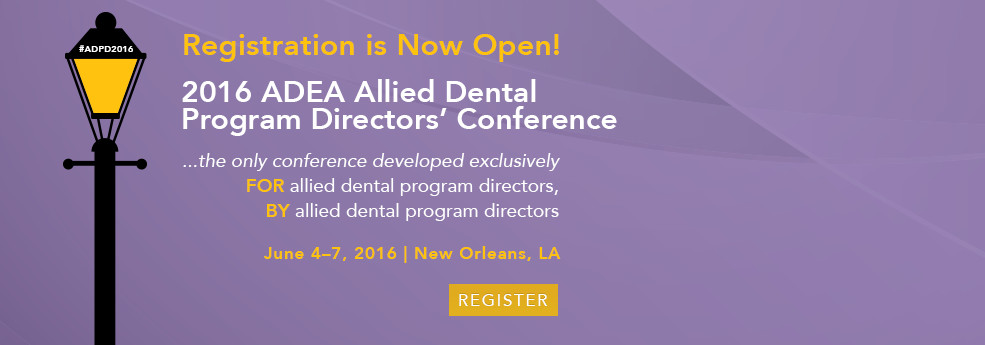2016 ADEA Allied Dental Program Directors