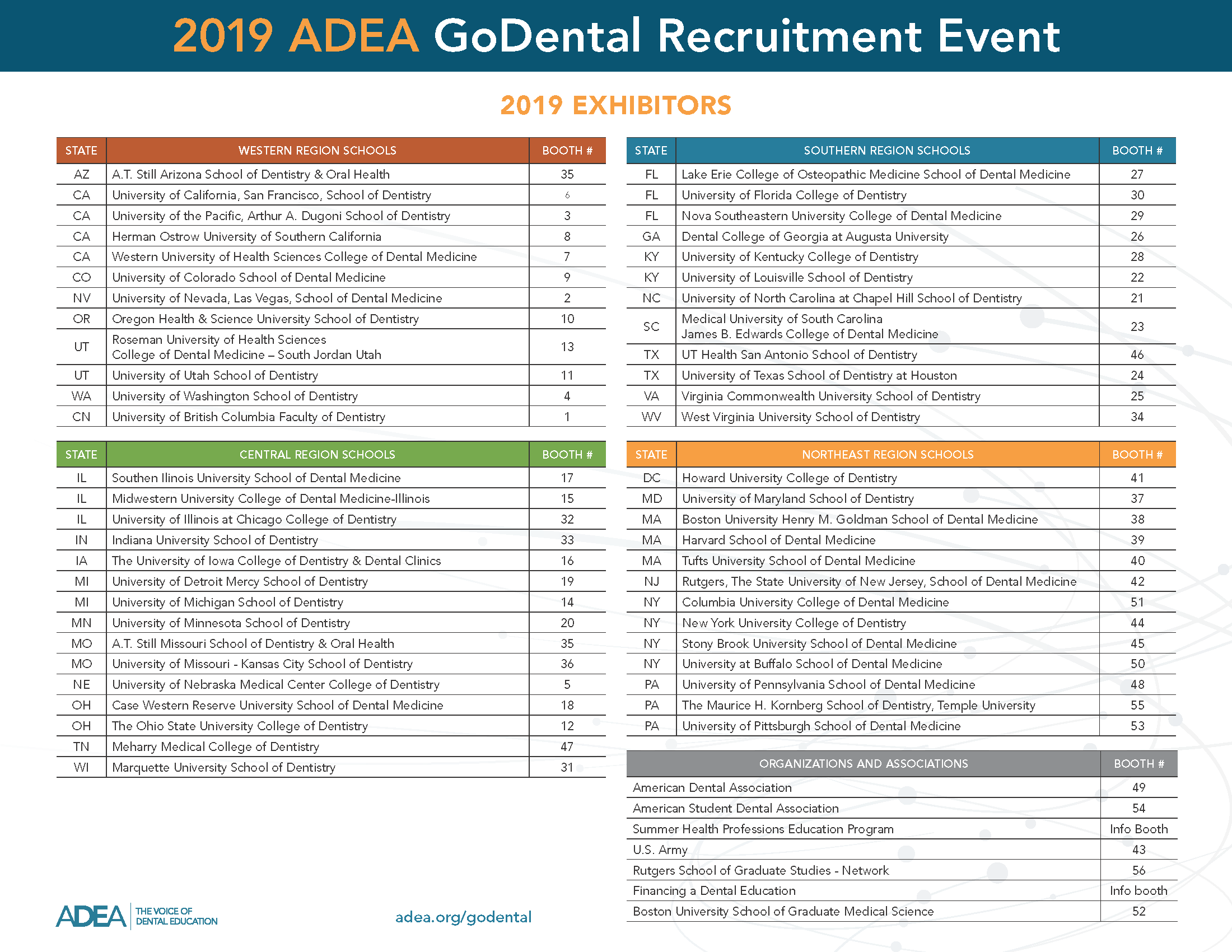 2019 GoDental Exhibit Hall Map